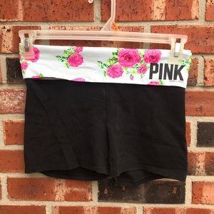 Floral PINK Yoga Shorts